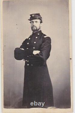 CIVIL War CDV Soldier/officer I. D. Marshall L. Dempey 66 Ohio & 23 U. S. C. T