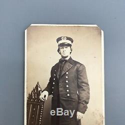 CIVIL War CDV U. S Navy Engineer Officer H. Brown Philadelphia By Gihon & Rixon
