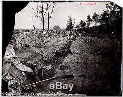 CIVIL War Casualties Battle Scene Large Vintage Photo From Orignal Negative