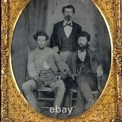 CIVIL War Half Plate Tintype Photogragh Confederate Cavalry Man Cavalryman