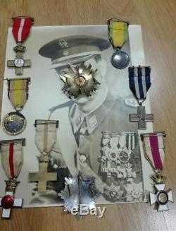 CIVIL War Lot Of Photos & Orders Medals Alfonso XIII Franco Original Military
