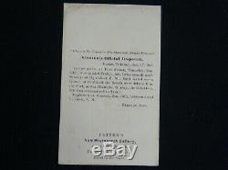 CIVIL War Navy Stanton's Official Dispatch Fort Fisher Double Amputee CDV Photo