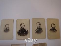 CIVIL War Photo Album, 4 Gererals, Gem Type Soldier In Kepi, Tom Thumb, Post Mortom