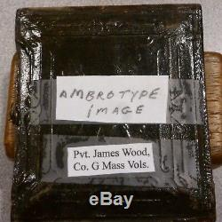 CIVIL War Soldier Ambrotype W Discharge Certificate Pvt C0. G 29th Massachusetts