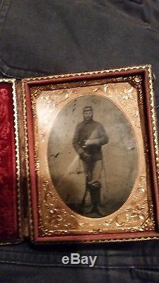CIVIL War Soldier I. D. CDV & Armed Tintype Ma. Sharpshooters