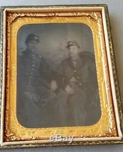 CIVIL War Tintype Two Soldier Officers