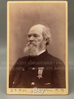Capt James Hope CIVIL WAR PAINTER Antietam 2nd Vermont GAR Soldier Antique Photo