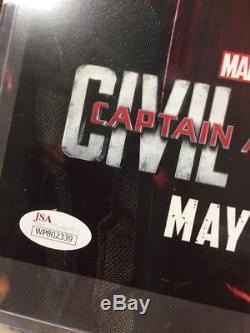 Captain America Civil War JSA COA Certified Signed Chris Evans Autograph