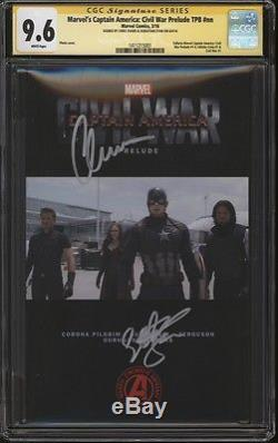 Captain America Civil War TPB Photo CGC 9.6 SS Signed Chris Evans Sebastian Stan