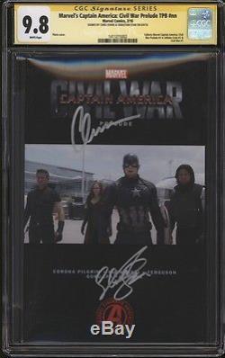 Captain America Civil War TPB Photo CGC 9.8 SS Signed Chris Evans Sebastian Stan