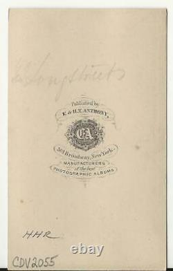 Carte de Visite Civil War Confederate General James Longstreet