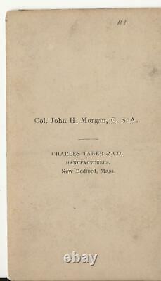 Carte de Visite Civil War Confederate John Hunt Morgan Colonel KIA