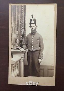 Carte de visite CDV soldier Baltimore musician during the Civil War RARE