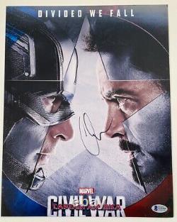 Chris Evans Signed Autograph 11x14 Photo Captain America Civil War Beckett COA