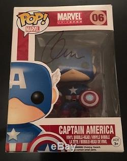 Chris Evans Signed Captain America Funko Pop! Autograph! Avengers CIVIL War Rare