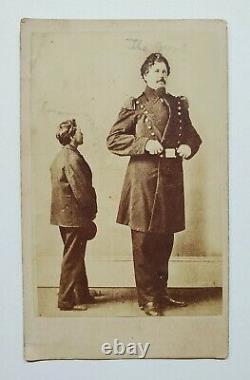 Circus Freak Kentucky Giant Civil War Capt Martin Van Buren Bates 1870 CDV Photo