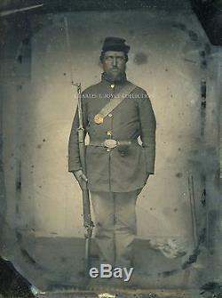 Civil War 1/4 Plate Tintype Union Private Killed in Action at Antietam