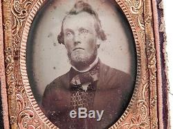 Civil War 1/9 Plate Ambrotype Photo Jesse M Richardson Confederate 42nd Virginia