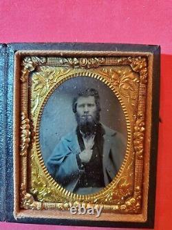 Civil War 9th Plate Tintype Civil War Soldier