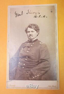 Civil War AUTOGRAPHED Matthew Brady image Union Gen. Samuel Sturgis CUSTER