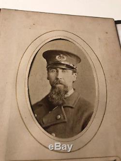 Civil War Album CDV Cabinet Photos Tintypes Soldier Officer Fireman Policeman