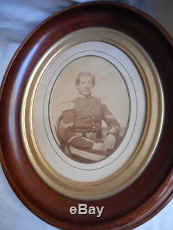 Civil War Albumen Photograph of H. Copp 46 Mass Rare Charlestown Boston Buckle