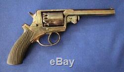 Civil War Ambrotype of Confederate Soldier with Super Rare Adams Revolver broken