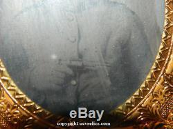 Civil War Armed Confederate Tintype of W Floyd 2nd Georgia Cav & His UCV Items