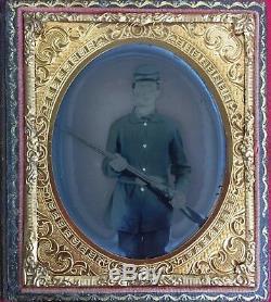 Civil War Armed Soldier 1/6 Tintype