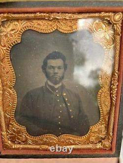 Civil War Artillery Officer 12 Corp Star Badge Tintype Military Relic Photograph