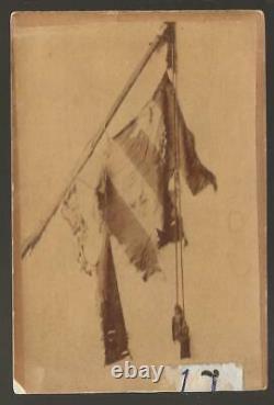 Civil War CDV Battle Torn Flag of the 51st Pennsylvania Vols