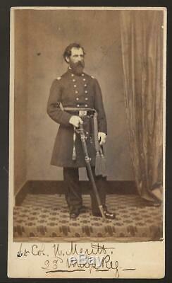 Civil War CDV Colonel Henry Merritt Salem Mass 23rd Mass Vols KIA New Berne NC