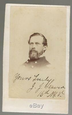 Civil War CDV Colonel and BBG Joel Joshua Seaver 16th NYVI Autographed