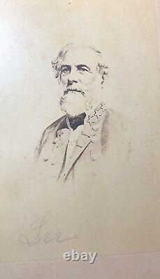 Civil War CDV Confederate General Robert E. Lee / E & HT ANTHONY