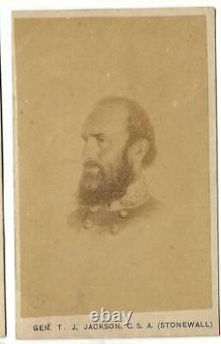 Civil War CDV Confederate General Stonewall Jackson