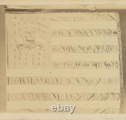 Civil War CDV Featuring Second State Colors of the 28th Pennsylvania Volunteers