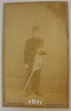 Civil War CDV-Gilbert Bates-1st Wisconsin-Vicksburg to Washington Walk
