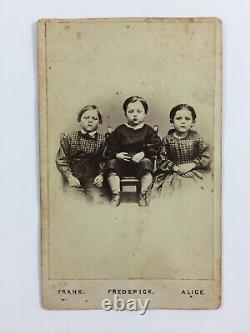 Civil War CDV Humiston Orphans Of Gettysburg 1865