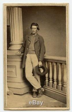 Civil War CDV IDd 36th Ohio Zarah Holcomb WIA Amputee