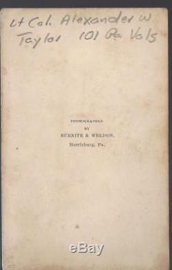 Civil War CDV Lt Colonel Alexander William Taylor 101 Pennsylvania Vols POW