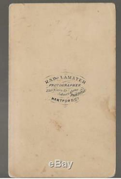 Civil War CDV Ltc/BBG Frank Henry Peck 12th Connecticut Vols KIA Winchester Va