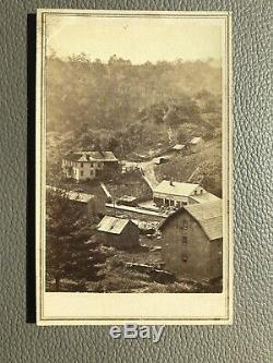 Civil War CDV Maryland Railroad Town