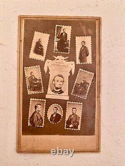 Civil War CDV Montage of Lincoln Photos, Memorial Anthony Backmark