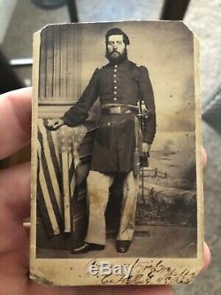 Civil War CDV Pennsylvania Officer WIA