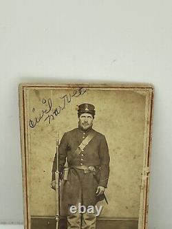 Civil War CDV Photo Union Soldier 111th Ohio Infantry Regiment Identified