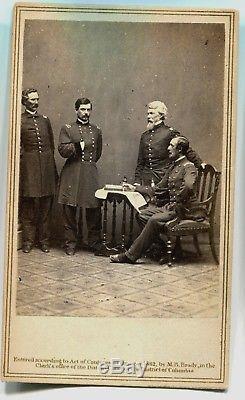 Civil War CDV Photograph General George McClellan and Staff by Matthew Brady