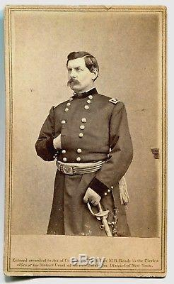 Civil War CDV Photograph of Major General George McClellan by Matthew Brady