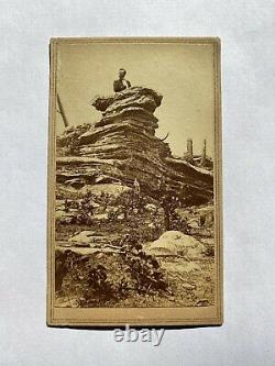 Civil War CDV R. M. Linn on Pulpit Rock Lookout Mountain Tennessee Chattanooga
