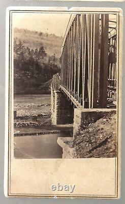 Civil War CDV Railroad Bridge in Virginia by Anthony/Brady