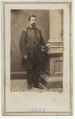 Civil War CDV Union Captain Alfred S Merrill 3rd Maine Vols Kearny Badge
